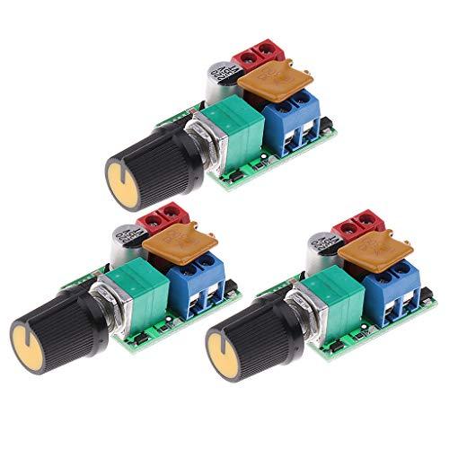 Homyl 3 Stücke Mini Dc 3v-35v 5a Motor Pwm Drehzahlregler Schalter LED-Dimmer -