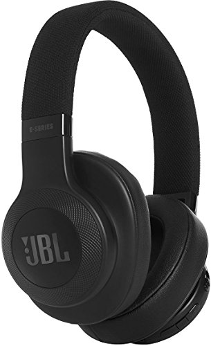 JBL JBLE55BTBLK Cuffie Circumaurali con Bluetooth, Ripiegabili con Microfono, Nero