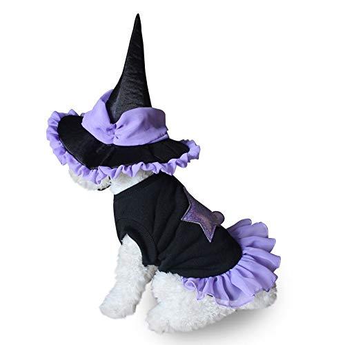 Yichener Halloween-Kostüm, lustiges Hunde-Kostüm für Welpen, Hexe, Hot Dog, Cosplay, Hunde-Kostüm für den - Urlaub Hunde Kostüm