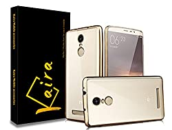 Kaira Electroplated Edge TPU Flexible Back Case Cover for Xiaomi Redmi Note 3 - Gold
