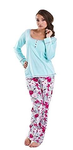 DN, Pyjama,PB 6052, aqua, Gr. XXL