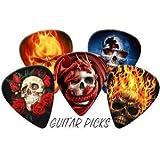 Skulls Full Colour Premium Guitar Picks x 5 (Medium 0.71mm)
