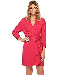 8f081af993 UNibelle Women s Nightgown Cotton Sleep Shirt Scoopneck Short Sleeve  Sleepwear S-XXL