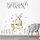 Sshssh Gras Schmetterling Elch Wandaufkleber Wohnzimmer Schlafzimmer Hintergrund Wandbild Poster Kunst Home Decoration Wand Grafik Aufkleber