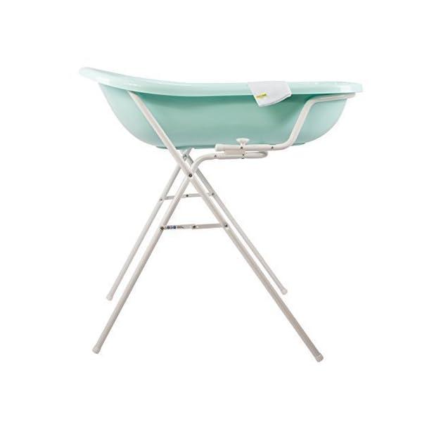 Baby Bath Tub Aquamarine XXL + Stand + Wash Mitt