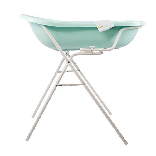 OKT Kids - Vasca per il bagnetto, misura XXL, con supporto e guanto per la doccia, colore: Acquamarina