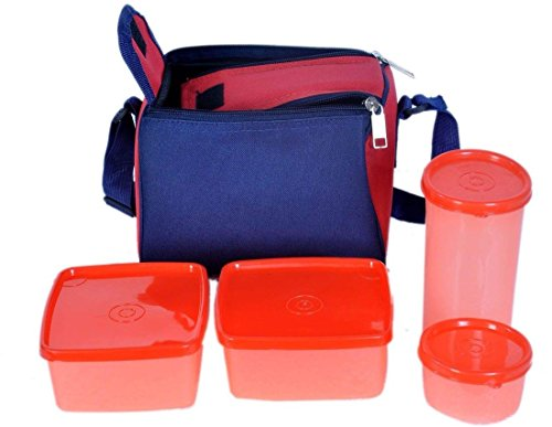 KS Topware Insulated Carry Bag Lunch Box Tiffin 3 Container...