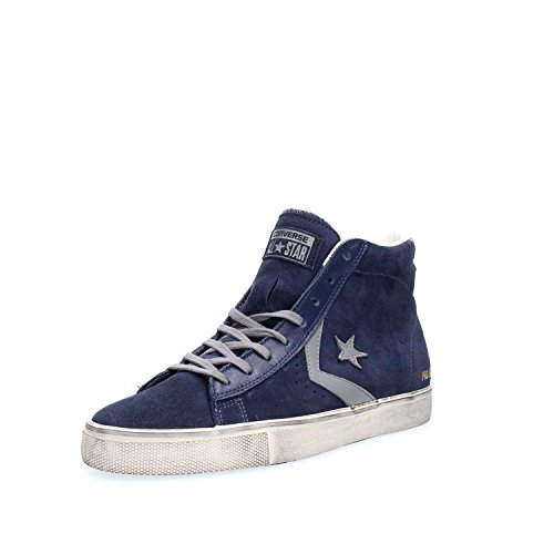 blu Mid Distressed Vulc Blu Sneakers Uomo Suede Leather Alte Pelle Suede Pro Converse FWfHq1R6W