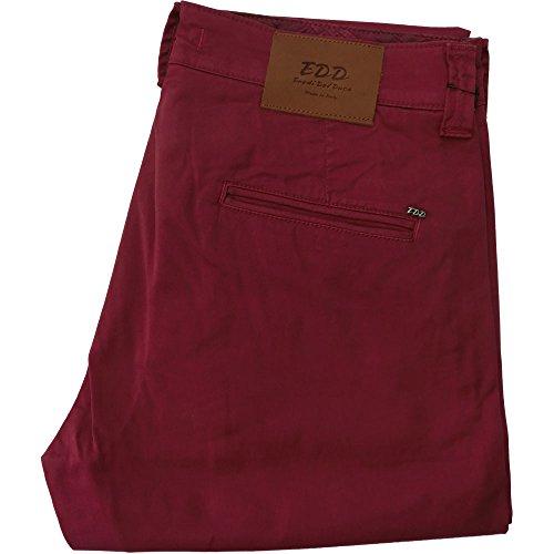 Eredi del duca pantalone 1006 uomo - elasticizzato 97% cotone 3% elastane, made in italy, Bordeaux (48)