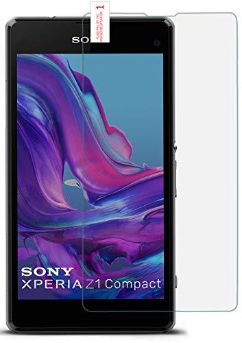 moex 9H Panzerfolie für Sony Xperia Z1 Compact | Panzerglas Bildschirm Glasfolie [Tempered Glass] Screen Protector Glas Bildschirmschutz-Folie für Sony Xperia Z1 Compact / Z1 Mini Schutzfolie