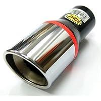 Boloromo 269 Universal - Embellecedor de tubo de escape universal, doble tubo, de acero inoxidable, diámetro de 33 - 48mm, cromado