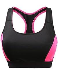 YARBAR Mujeres de alto impacto de apoyo único trasero inalámbrico deportivo sujetador