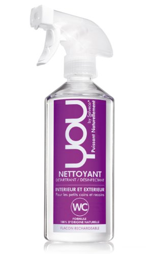 YOU - Spray Ecologique Détartrant Désinfectant WC - 500 ml - Lot de 4