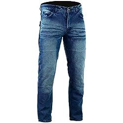 Bikers Gear Australia limitada Kevlar Lined–Pantalones vaqueros para motorista CE protección, Stone Wash Denim, tamaño 34R