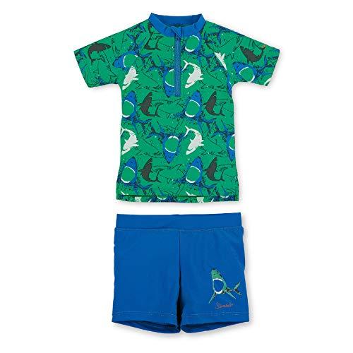 Sterntaler Kinder Jungen 2-teiliger Schwimmanzug, Kurzarm-Badeshirt und Short, UV-Schutz 50+, Alter: 2-4 Jahre, Größe: 98/104, Pfefferminz