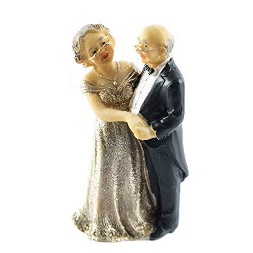 knuellermarkt.de Tortenfigur Hochzeits-Figur goldene Hochzeit Goldhochzeit Deko Dekoration Torte