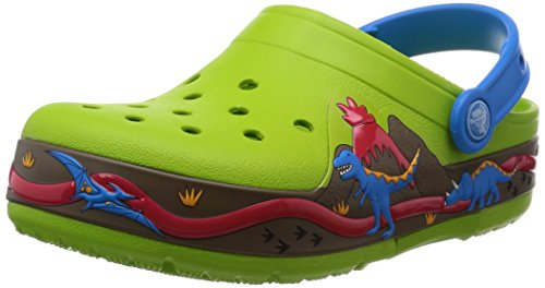 Crocs Kids - CrocsLights Dinosaur Clog PS - Volt Green Ocean