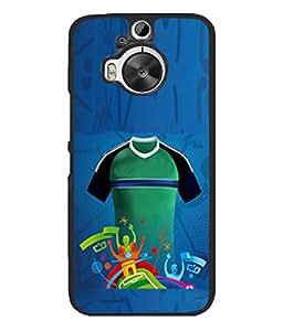 Fuson Designer Back Case Cover for HTC One M9 Plus :: HTC One M9+ :: HTC One M9+ Supreme Camera (Green Black Football Club Jersey Attire Dress)