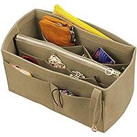 [Passt Neverfull MM / Speedy 30, Khaki] Filz-Organizer (mit abnehmbaren mittleren Zipper Bag), Tasche in Tasche, Wolle Geldbörse einfügen, individuelle Tote organisieren, Kosmetik Make-up Windel Handtasche
