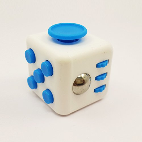 Shine Fun Fidget Adult Anxiety Stress Relief Toys Gift Cubes (White/Blue)