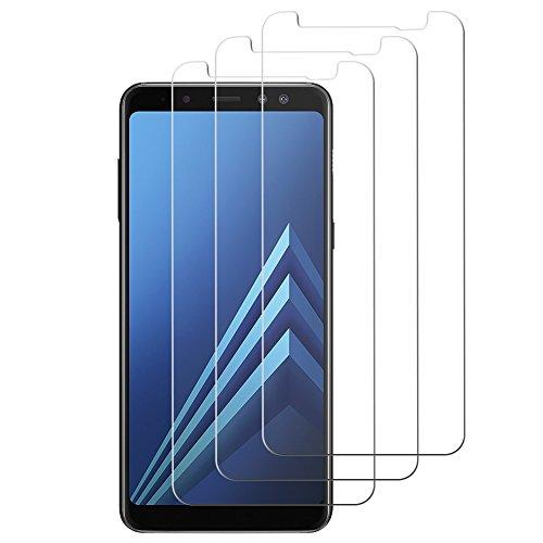 Preisvergleich Produktbild [ 3 Stück ] Samsung Galaxy A8 Schutzfolie A8 Panzerglas,  YSYS 3D Gebogen gehärtet [Blasenfreie] [9H Härte] [HD klar] [Anti-Kratzen] [Einfache Installation] Glas Bildschirm Film für Samsung Galaxy A8 - Schwarz