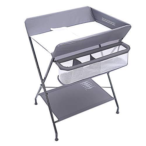Tables à langer Station De Rangement avec Table De Rangement pour Bébé Unité Portable Santé Soins du Bébé, Gris (Taille : Height-100cm)