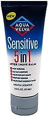 Aqua Velva Sensitive 5-In-1 After Shave Balm 3.3 Ounce Tube (97ml) (2 Pack)