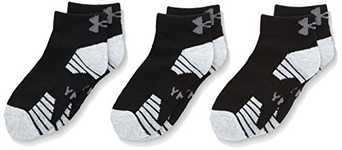 UNDAS:Under Armour Herren Heatgear Tech Locut 3PK Socken, Black, YLG (Under Armour Sport-socken)