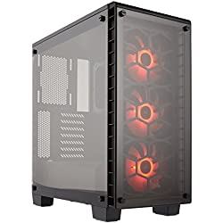 Corsair Model CC-9011101-WW Crystal Series (460X RGB) Steel ATX Mid Tower Computer Case Black