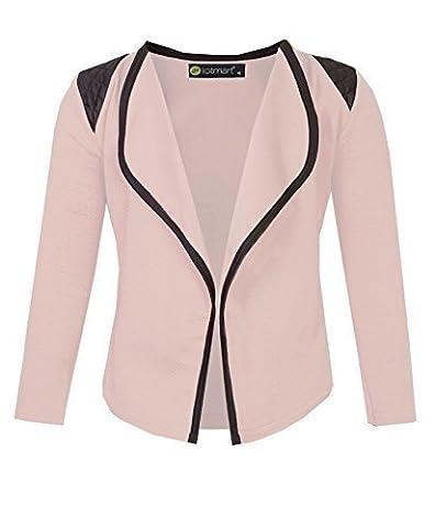 Girls Blazer Jacket with Shoulder Detail in Peach 7-8 Years