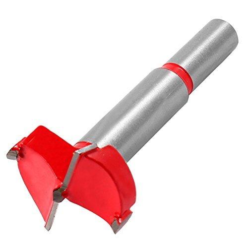 DealMux 32mm Durchmesser Bohren Hartmetall-Scharnier Boring Bit, Rot-Silber-Ton