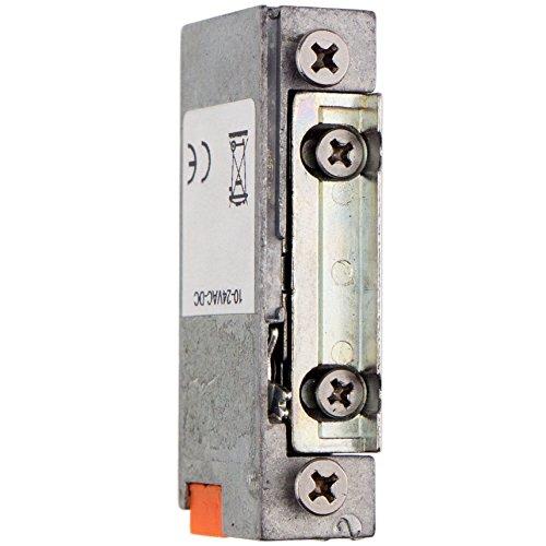 Preisvergleich Produktbild Elektrischer Türöffner 10-24 Volt mit Radiusfalle und Entriegelungshebel