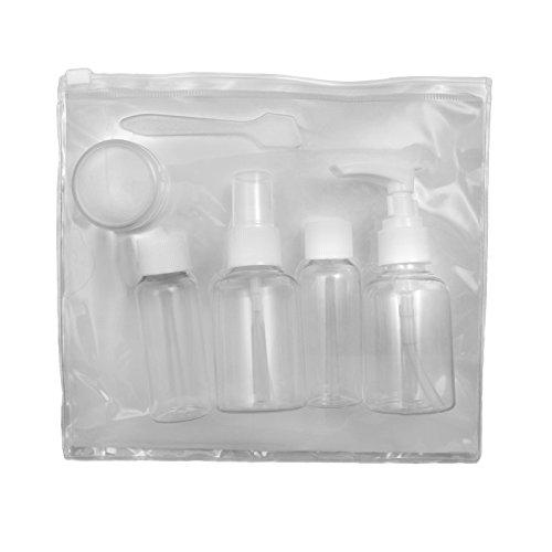 6 pièces Flight Transparent Cosmétique conteneurs de sac et Accepté