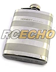Honest 4OZ-51PS-1C Mirror Finishing and Satin Metal Pocket Flask (Silver) F004S