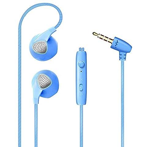 Alxcio Universal Hifi Écouteurs avec Mic Oreillette Intra-auriculaires Casques 1.2M Nylon Tressé soutien pour Apple iPhone iPod Touch iPad air 2 iPad Mini Lecteurs MP3 Cellphones Tablet PC
