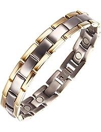 Moocare des Tones zwei magnetarmband herren gesundheit Titan Magnet Armband 3000 gauss verstellbare Gliederarmband