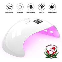 Lámpara para Uñas, U-Kiss Secador de Uñas 40W, Lámpara UV y LED