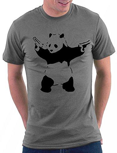 Banksy Panda T-shirt Darkgrey