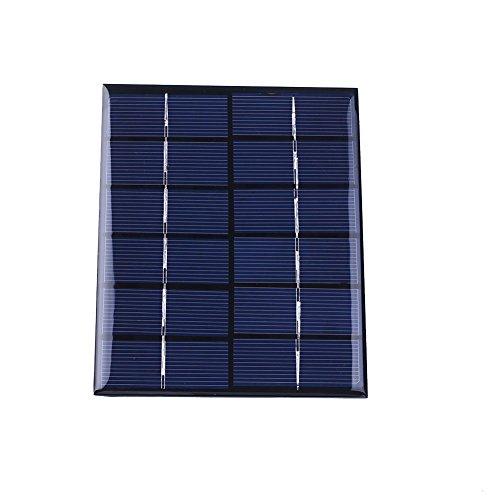 Especificaciones:  Color: Negro  Aspecto Material: Resina  El panel solar: silicio policristalino  Potencia: 2W  Corriente de funcionamiento: 0-330MA  tensión de funcionamiento: voltaje de circuito abierto CC 6V : DC 7.5V tamaño  del producto: 15 * ...