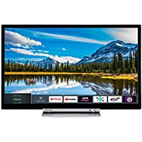 Toshiba 24D3863DB 24-Inch HD Ready Smart TV with Freeview Play and Built In DVD Player - Black/Silver (2018 Model)