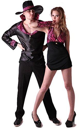 Pimp Kostüm Paar - Generique Pimp Paarkostüm für Erwachsene L
