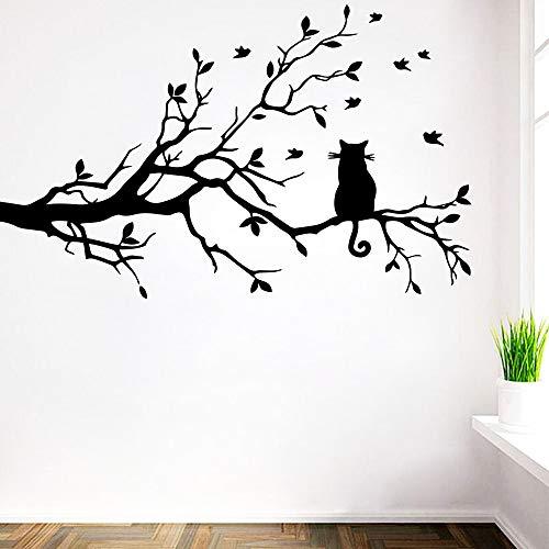 BailongXiao Katze Kinderzimmer auf dem AST Vinyl Wandaufkleber Dekoration Wohnzimmer Dekoration Wanddekorationen Wandbilder 104x156cm