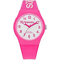 Superdry unisex watch Pink and White-syg164pw