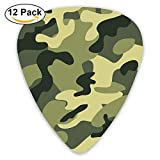 Camouflage Green.png Custom Guitar Picks For Electric Acoustic Best Stuffer Gifts (12pack)