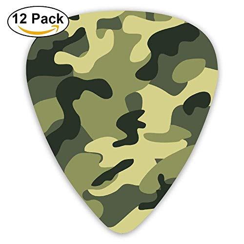 Custom Guitar Picks For Electric Acoustic Best Stuffer Gifts (12pack) ()