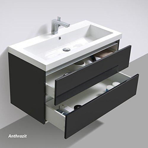 Badmöbelset Waschtisch, Unterschrank und Spiegel - 7