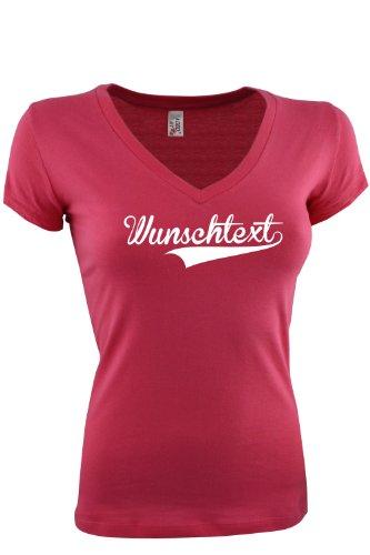 Frauen T-Shirt Druck mit Wunschtext Logo/eigener Grafik, viele Farben und Größen zur Auswahl (Viele 2 T-shirts)