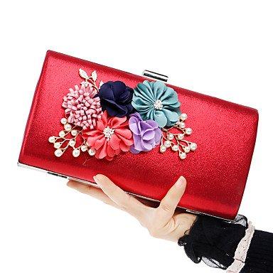 Frauen Südkorea's handgemachten Blumen weiblichen Tasche luxus Bankettabendessen hand Tasche Tasche Red