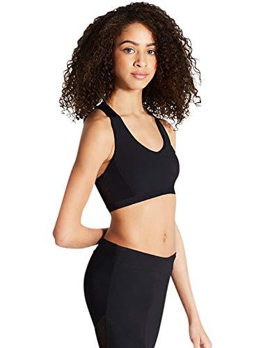 Capezio Swiss Dot Raceback Bra Top | Adult Dance Wear (11300W) -Black -Medium Dance Dot