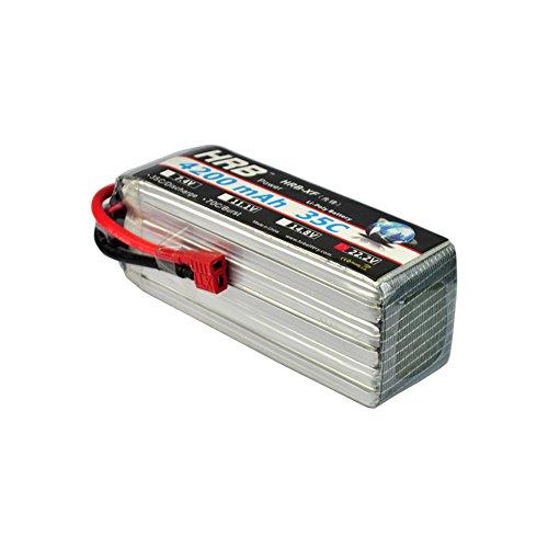 HRB LiPo Akku Pack 4200mAh 22.2V 35C 6S Lipo Batterie mit Deans Stecker T Plug für RC Evader BX Auto, RC Truck, RC Truggy RC Flugzeug UAV Drone FPV